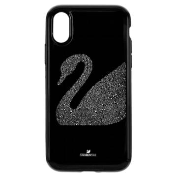 Swan Fabric Smartphone Schutzhülle mit integriertem Stoßschutz, iPhone® XR, schwarz - Swarovski, 5474747