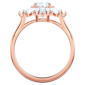 Inel Sunshine, alb, placat în nuanță aur roz - Swarovski, 5474920