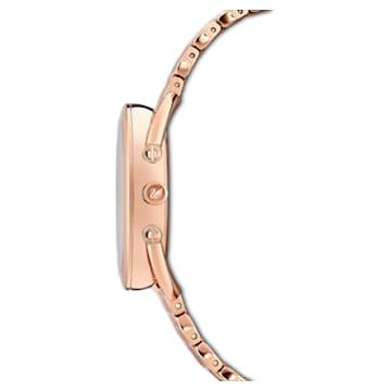 Crystalline Glam 腕表, 金属手链, 蓝色, 玫瑰金色调 PVD - Swarovski, 5475784