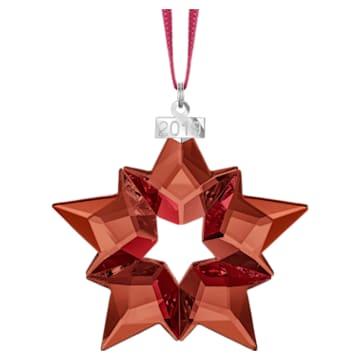 Holiday Ornament, A.E. 2019, Star, Red - Swarovski, 5476021