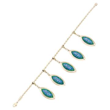 Evil Eye Armband, blau, vergoldet - Swarovski, 5477549