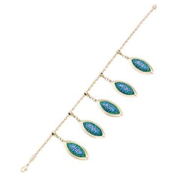 Evil Eye Bracelet, Blue, Gold-tone plated - Swarovski, 5477549