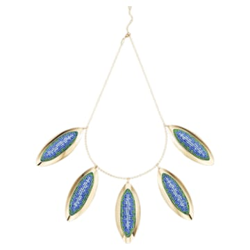 Evil Eye Statement Necklace, Blue, Gold-tone plated - Swarovski, 5477554