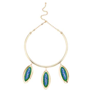 Collier Evil Eye, bleu, métal doré - Swarovski, 5477641