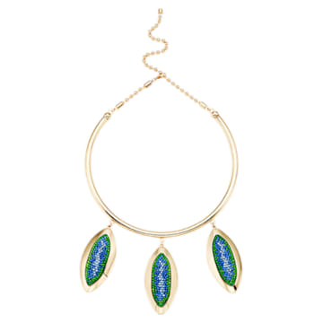 Evil Eye Necklace, Blue, Gold-tone plated - Swarovski, 5477641