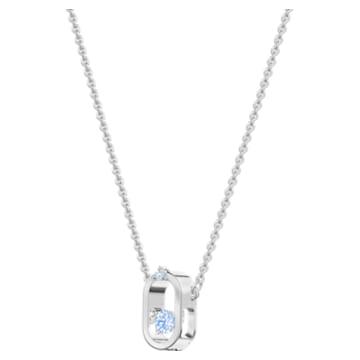Sparkling Dance Halskette, Blau, Rhodiniert - Swarovski, 5479118