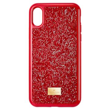 Glam Rock 手機殼, iPhone® X/XS , 紅色 - Swarovski, 5479960