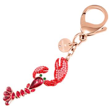 Accessoire de sac Sea Life, rouge, combinaison de métaux plaqués - Swarovski, 5479965