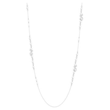 Leonore Strandage necklace, Multicolored, Rhodium plated - Swarovski, 5479976