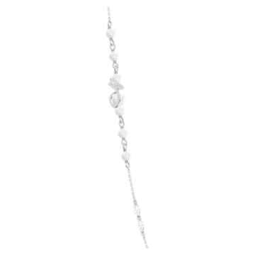 Leonore Strandage necklace, Multicoloured, Rhodium plated - Swarovski, 5479976