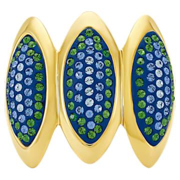 Anello cocktail Evil Eye, blu, placcato color oro - Swarovski, 5480163