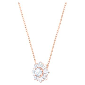 Sunshine 套装, 白色, 镀玫瑰金色调 - Swarovski, 5480468