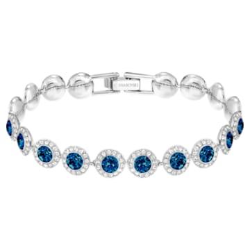 Pulseira Angelic, azul, banhada a ródio - Swarovski, 5480484