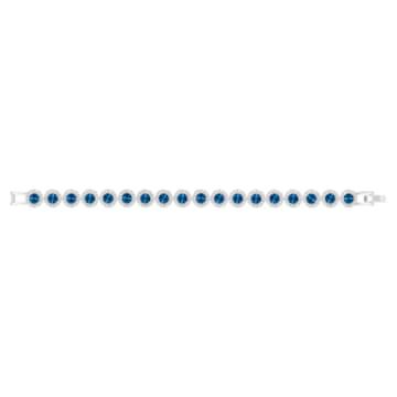 Brățară Angelic, albastră, placată cu rodiu - Swarovski, 5480484