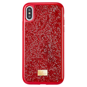 Glam Rock Smartphone Case, iPhone® XR, Red - Swarovski, 5481449