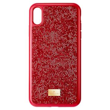 Custodia per smartphone Glam Rock, iPhone® XS Max, rosso - Swarovski, 5481454