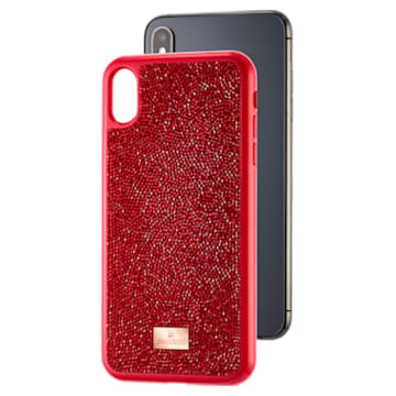 Glam Rock smartphone case , iPhone® XS Max, Red - Swarovski, 5481454
