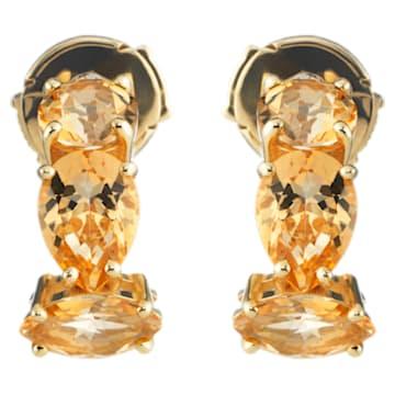 Arc-en-ciel Earrings, Honey Color Treated Swarovski Genuine Topaz, 18K Yellow Gold - Swarovski, 5481744