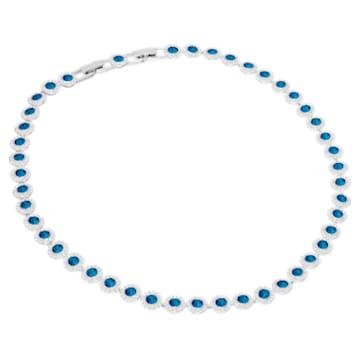 Angelic-ketting, Blauw, Rodium-verguld - Swarovski, 5482698