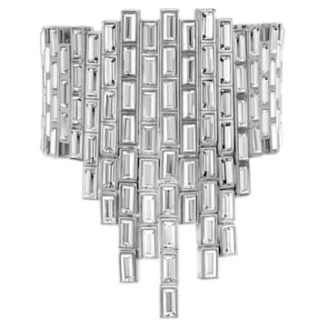 Bracelet Fluid Azzurro, Gris, métal plaqué palladium - Swarovski, 5483204