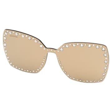 Nakładki na okulary przeciwsłoneczne Swarovski, SK5330-CL 32G, brązowe - Swarovski, 5483809