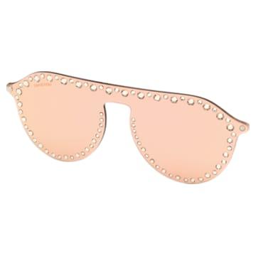 Swarovski Click-on Mask for Sunglasses, SK5329-CL 32G, Rose - Swarovski, 5483812