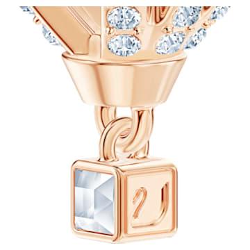 Into the Sky Pendant, White, Rose-gold tone plated - Swarovski, 5483990