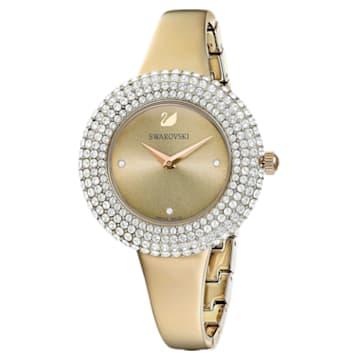Reloj Crystal Rose, Brazalete de metal, dorado, PVD en tono Oro Champán - Swarovski, 5484045