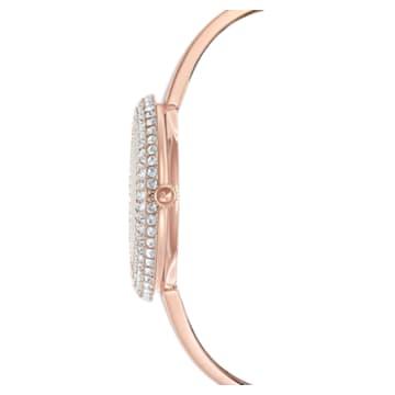 Montre Crystal Rose, Bracelet en métal, Ton or rose, PVD doré rose - Swarovski, 5484073