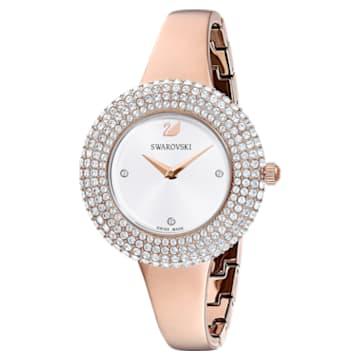 Crystal Rose 手錶, 金屬手鏈, 白色, 玫瑰金色調PVD - Swarovski, 5484073