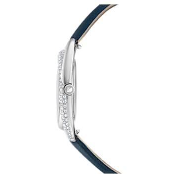 Hodinky Duo s koženým páskem, modré, nerezová ocel - Swarovski, 5484376