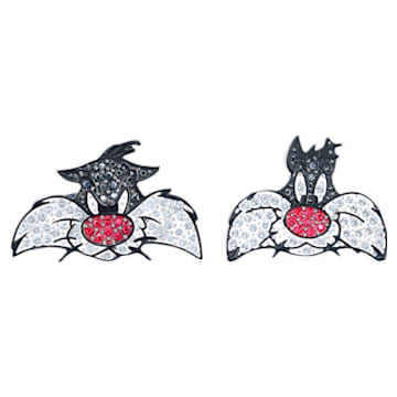 Butoni Looney Tunes Sylvester, Multicoloră, Placat cu rodiu - Swarovski, 5484687