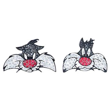 Manžetové knoflíčky Looney Tunes Sylvester, Vícebarevná, Pokoveno rhodiem - Swarovski, 5484687