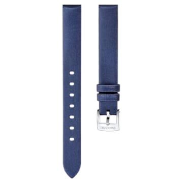 Cinturino per orologio 13mm, seta, blu, acciaio inossidabile - Swarovski, 5485038