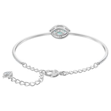 Swarovski Sparkling Dance bracelet, Green, Rhodium plated - Swarovski, 5485722