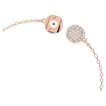 Dazzling Swan bracelet, Swan, Pink, Rose gold-tone plated - Swarovski, 5485877