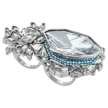 Ice Crack 圖形戒指, 多色設計, 鍍釕 - Swarovski, 5486025