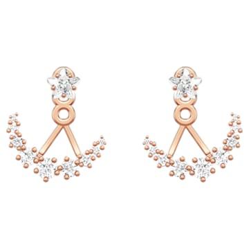 Moonsun Подвески для серёжек, Белый кристалл, Покрытие оттенка розового золота - Swarovski, 5486351