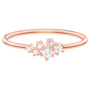 Pierścionek Moonsun, biały, powlekany różowym złotem - Swarovski, 5486808