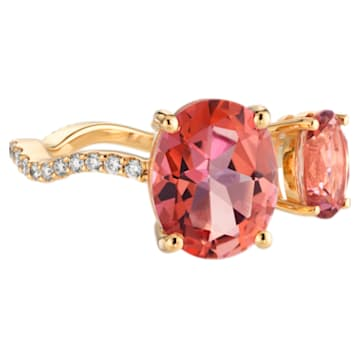 Arc-en-ciel Ring, Pink Topaz, 18K Yellow Gold, Size 55 - Swarovski, 5487220