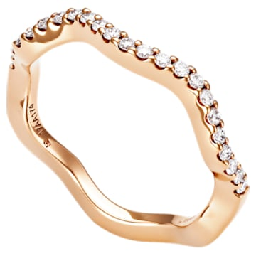 Arc-en-ciel Thin Band Ring, 18K Rose Gold, Size 48 - Swarovski, 5487225