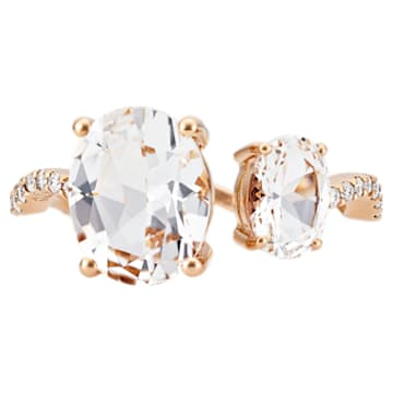 Arc-en-ciel Ring, White Topaz, 18K Rose Gold, Size 55 - Swarovski, 5487228