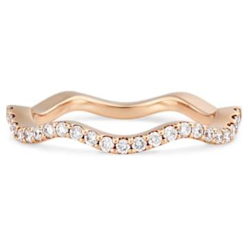 Arc-en-ciel Thin Band Ring, 18K White Gold, Size 55 - Swarovski, 5487462