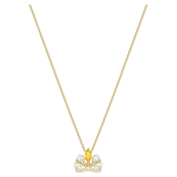 Bee A Queen Necklace, Yellow, Gold-tone plated - Swarovski, 5488187