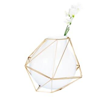 Vaso Framework, piccolo, bianco - Swarovski, 5488385