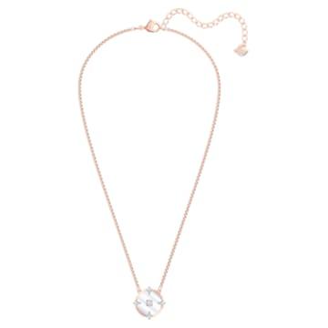 Collana North, bianco, Placcato oro rosa - Swarovski, 5488400