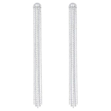 Boucles d'oreilles Tassell Fit, blanc, Métal rhodié - Swarovski, 5490190