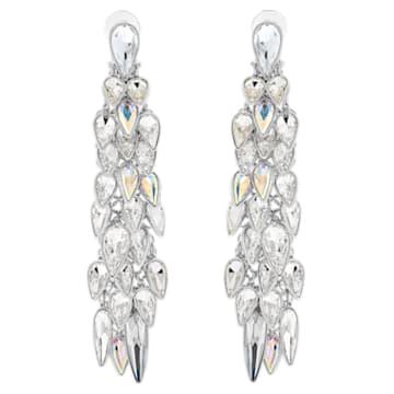 Polar Bestiary 夹式耳环, 流光溢彩, 镀铑 - Swarovski, 5490238