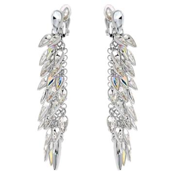 Polar Bestiary clip earrings, Multicoloured, Rhodium plated - Swarovski, 5490238