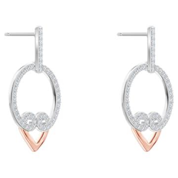 My Hero Pierced Earrings, White, Mixed metal finish - Swarovski, 5490426